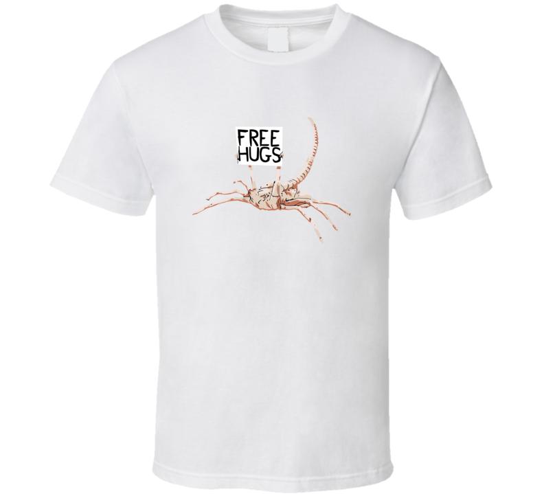 Free Hugs Cute Alien Facehugger T Shirt