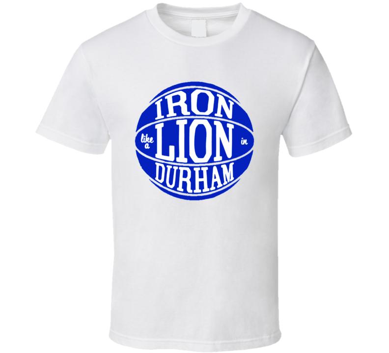 Zion Williamson Iron Lion Durham Duke Basketball T Shirt