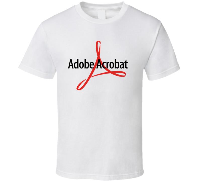 Adobe Acrobat Reader Logo T Shirt