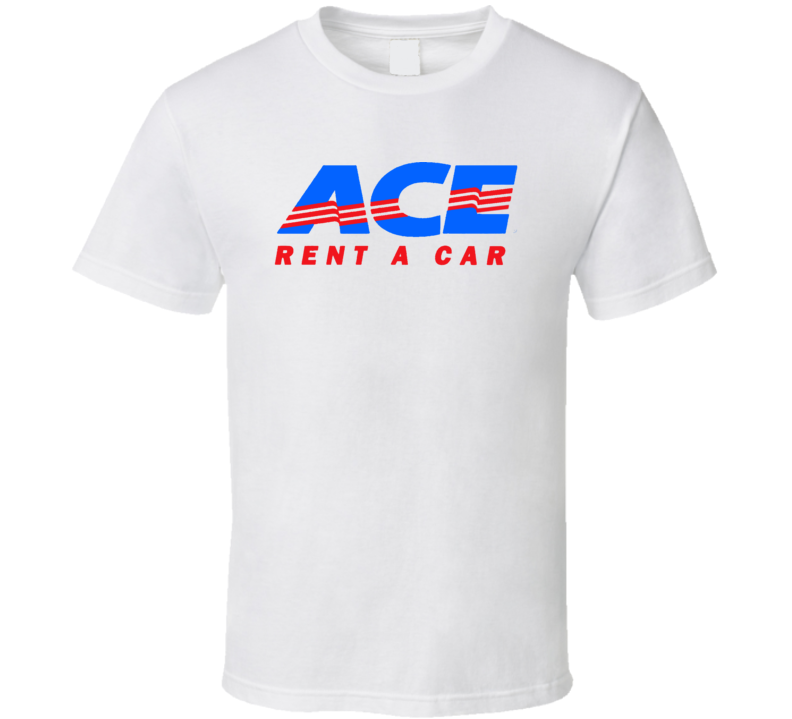 Ace Rent A Car Logo T Shirt