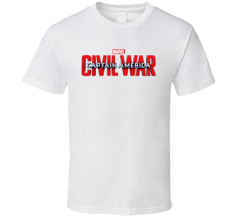 Captain America Civil War Logo  T Shirt