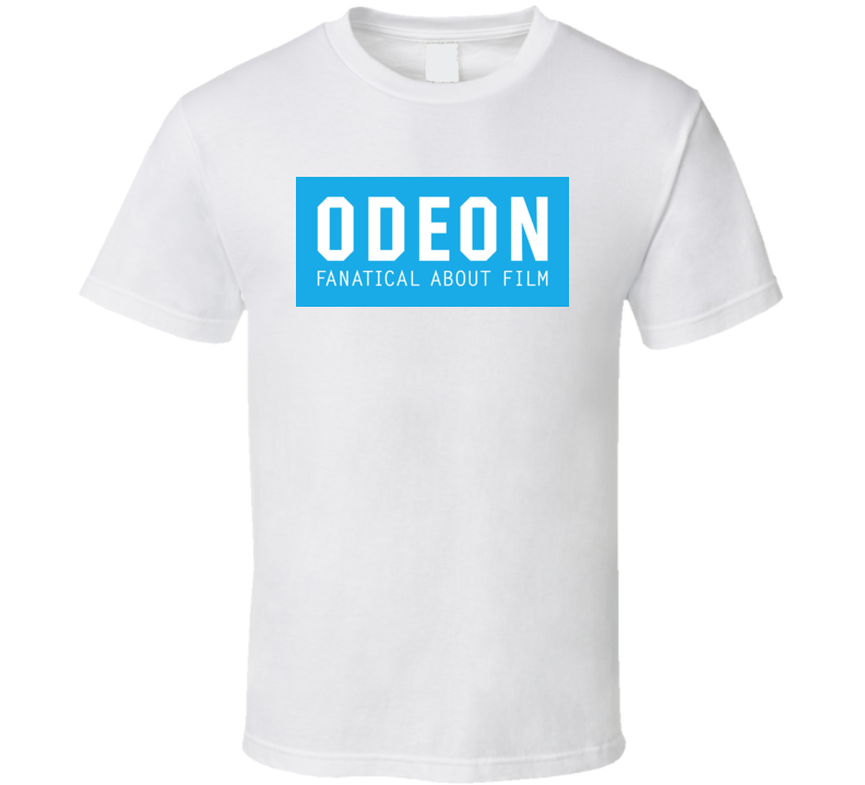 Odeon Blue Background Logo T Shirt