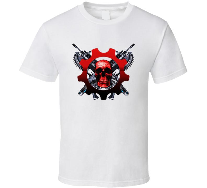 Gears Of War Skull Logo T Shirt