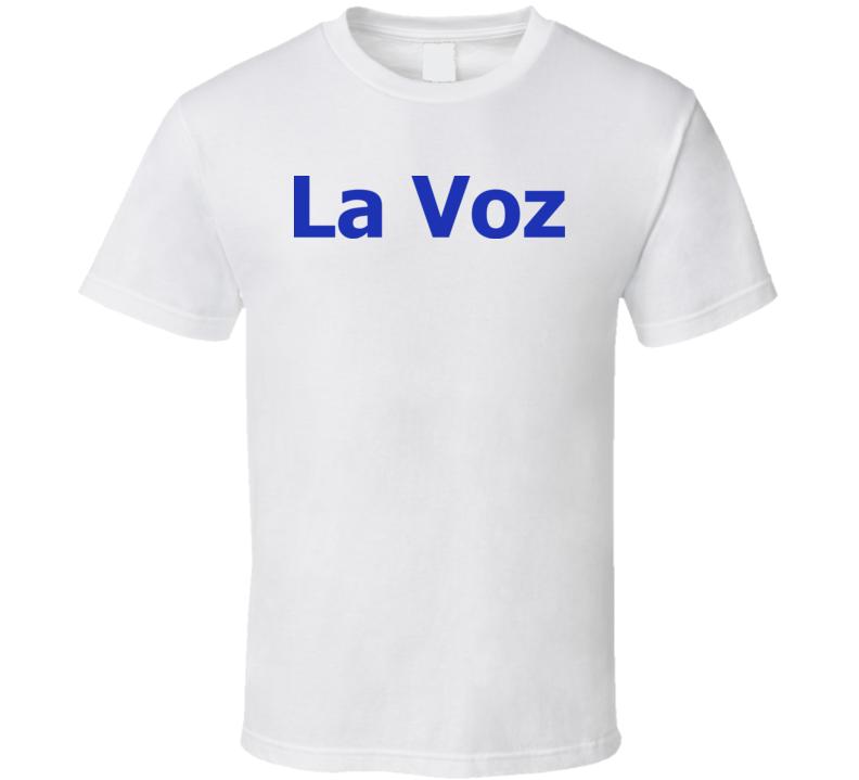 Newspaper La Voz Logo T Shirt