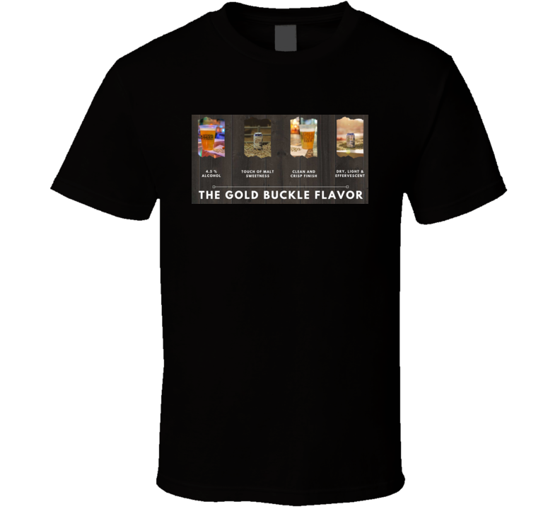 Gold Buckle Beer T Shirt