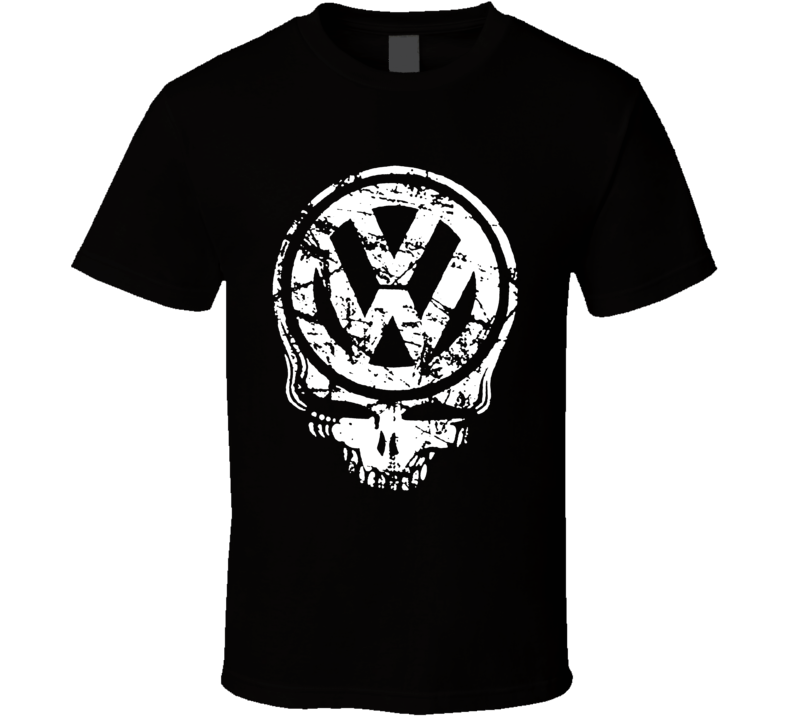 volkswagon skull vw custom t-shirt graphic tee Golf