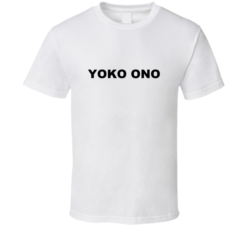 Yoko Ono as Worn by Jennifer Love Hewitt White T Shirt