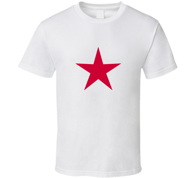 Mad Men's Megan wears Sharon Tate Red Star T Shirt