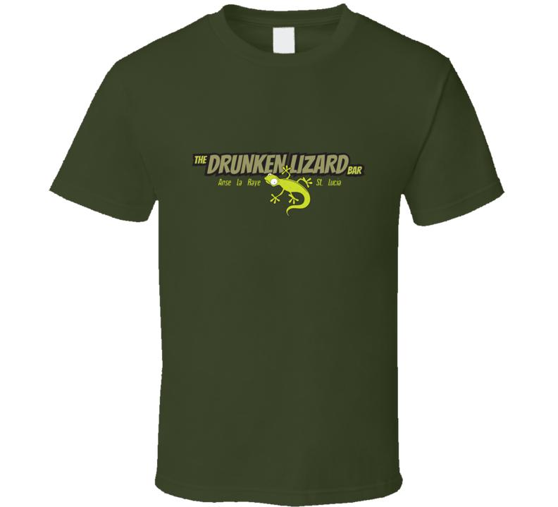 Stefs Drunken Lizard Bar St. Lucia T Shirt