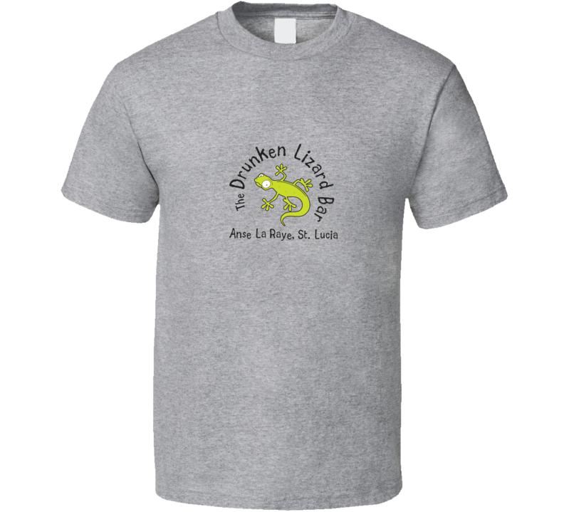 Kims Drunken Lizard Bar St. Lucia T Shirt