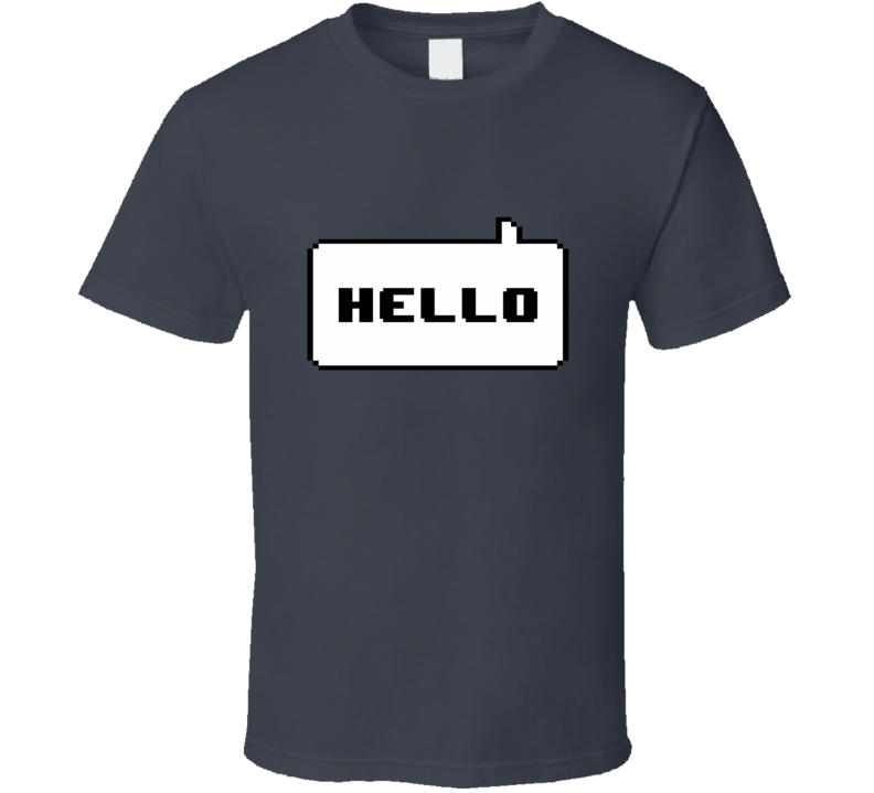 8 bit Hello T Shirt