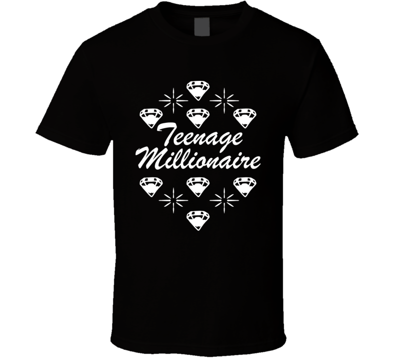 Paris Hilton Teenage Millionaire Black T Shirt