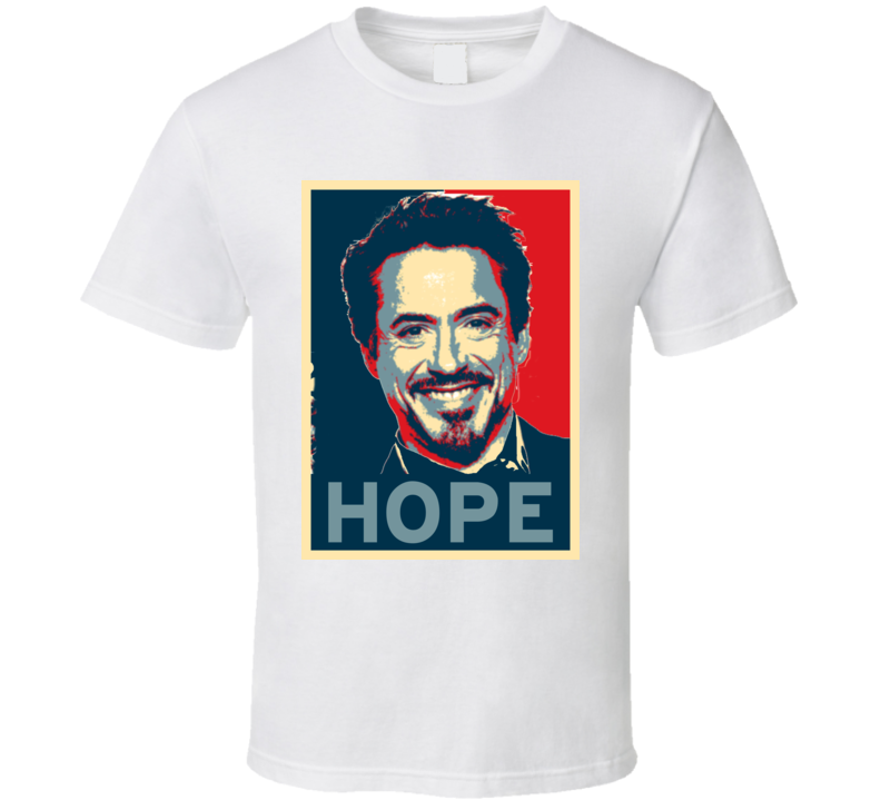 Robert Downey Jr HOPE poster T Shirt