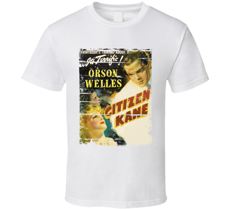 Citizen Kane  Classic Movie Poster Aged Look T Shirt