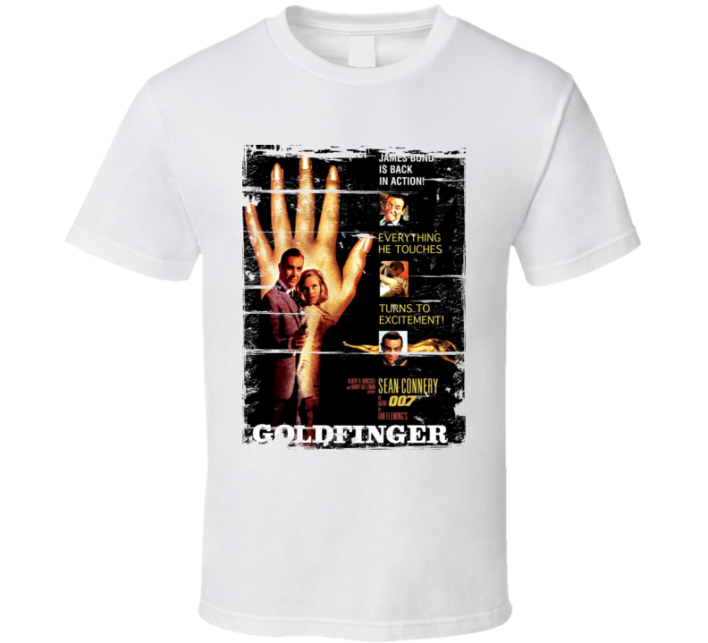 Goldfinger  Classic Movie Poster Aged Look T Shirt