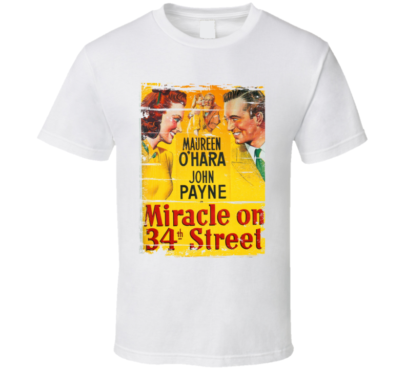 Miracle on 34th Street Classic Movie Poster Aged Look T Shirt