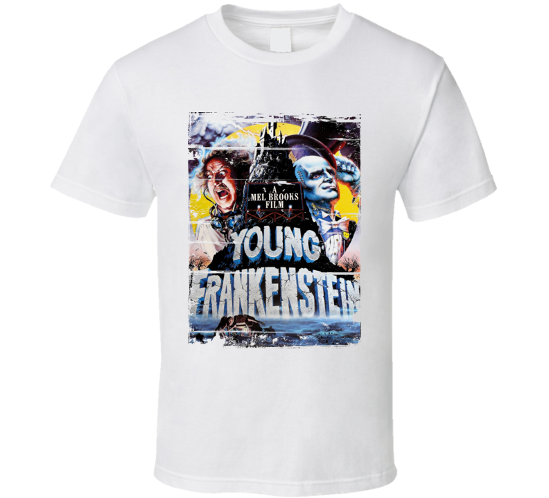 Young Frankenstein  Classic Movie Poster Aged Look T Shirt