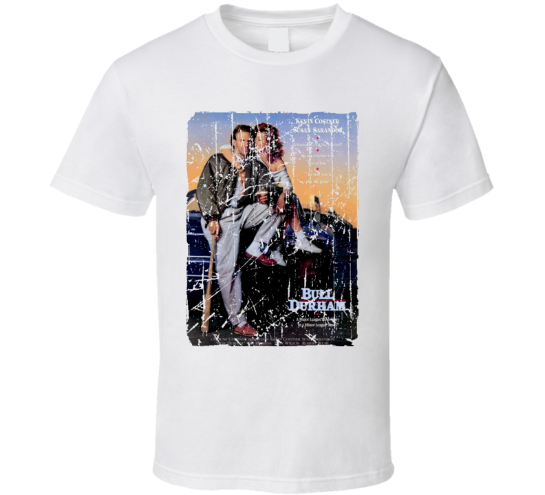 Bull Durham Movie Poster Retro Aged Look T Shirt