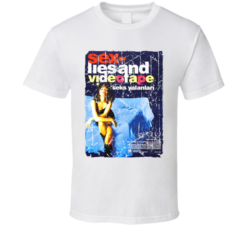 Sex Lies And Videotape Movie Poster Retro Aged Look T Shirt