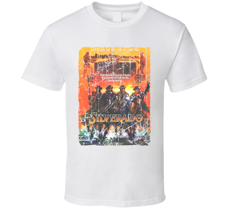 Silverado Movie Poster Retro Aged Look T Shirt