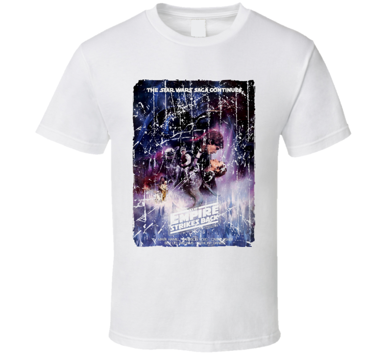 The Empire Strikes Back Movie Poster Retro Aged Look T Shirt