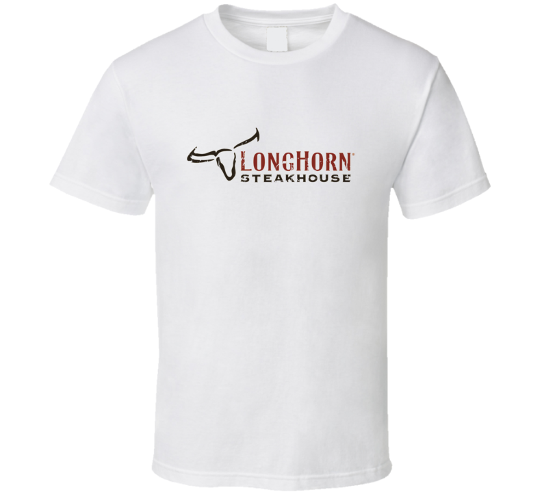 LongHorn Steakhouse Fast Food Restaurant Distressed Look T Shirt