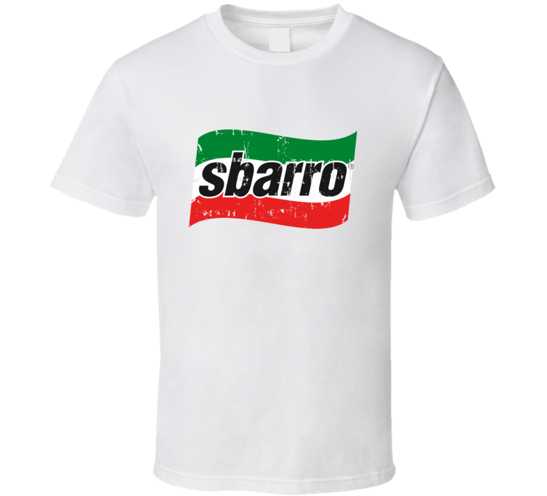 Sbarro Fast Food Restaurant Distressed Look T Shirt