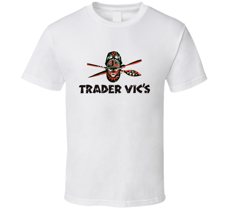 Trader Vics Fast Food Restaurant Distressed Look T Shirt