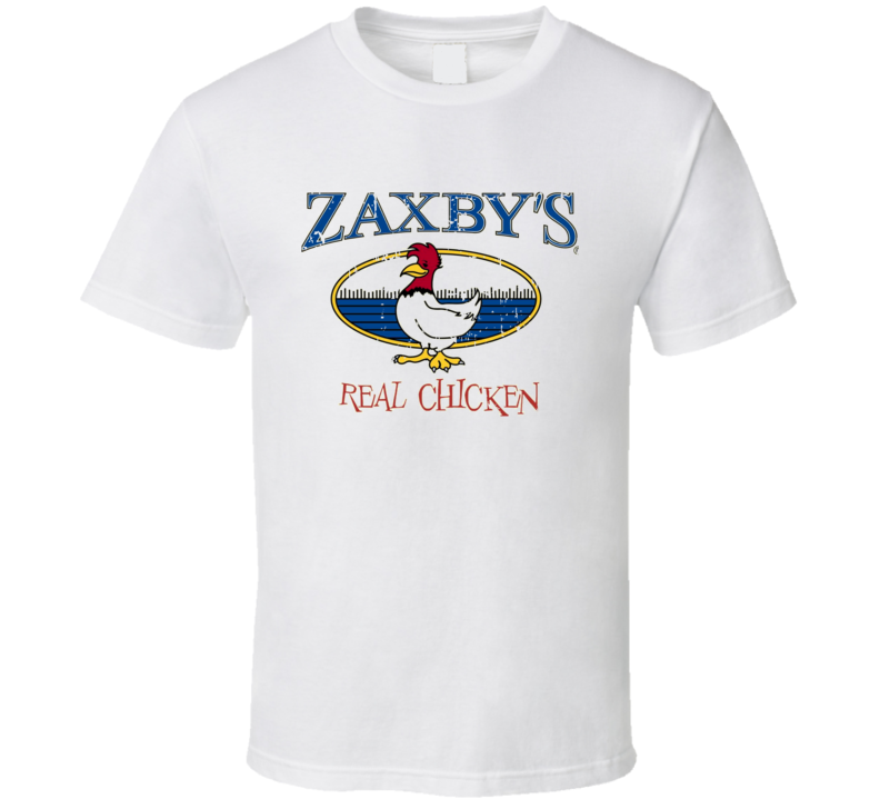 Zaxbys Fast Food Restaurant Distressed Look T Shirt