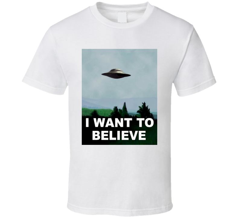 X-Files Fox Mulder I Want to Believe Poster T Shirt