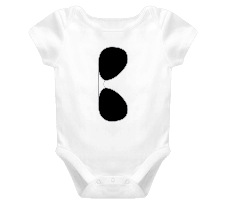 Aviator Sunglasses Baby Onesie T Shirt