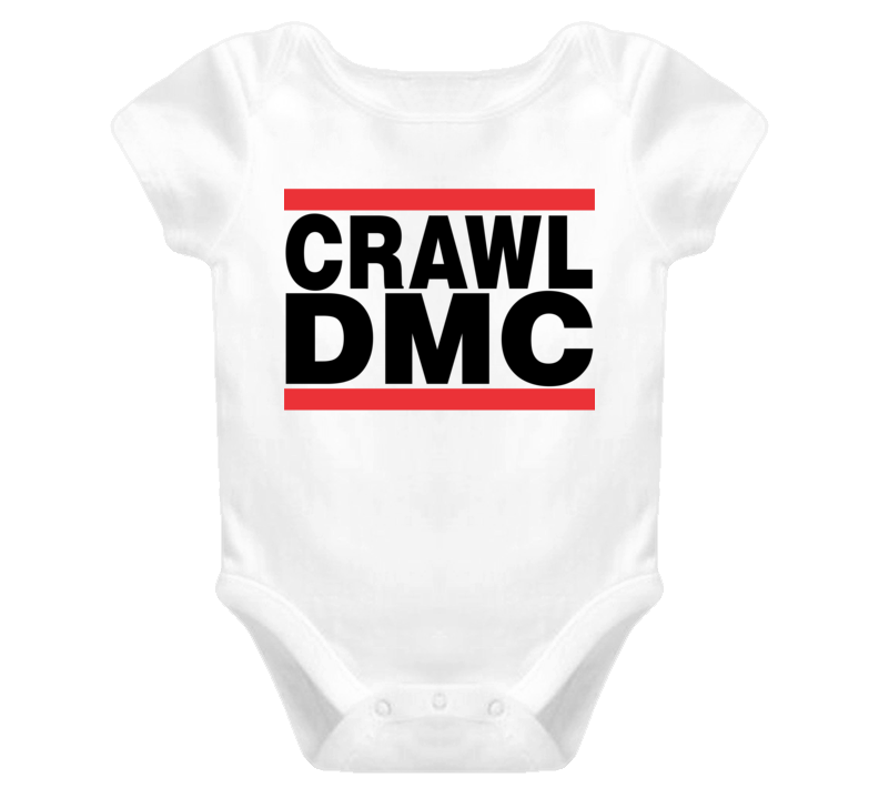Crawl DMC Run DMC Baby Onesie T Shirt