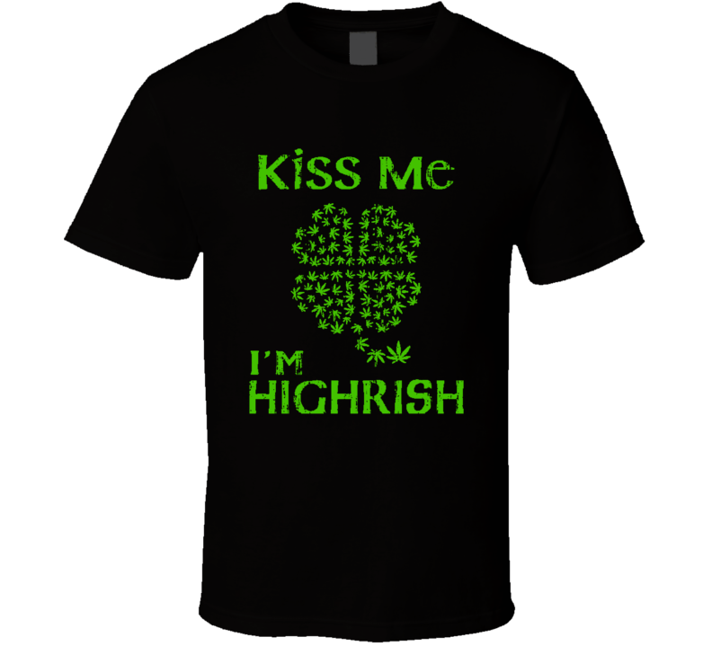 Kiss Me I'm Hugrish St Patricks Day Cool Worn Look Beer Lover T Shirt