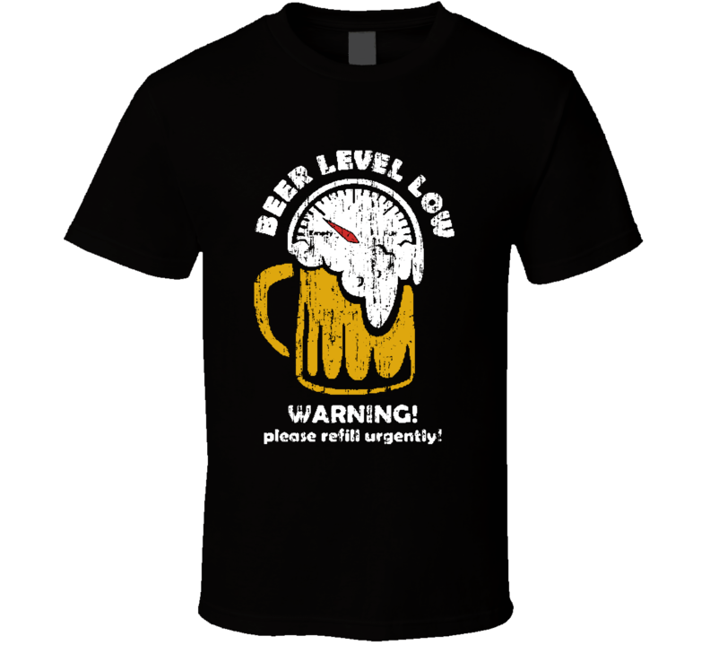 Beer Level Low Funny St Patricks Day Irish Worn Look Cool T Shirt