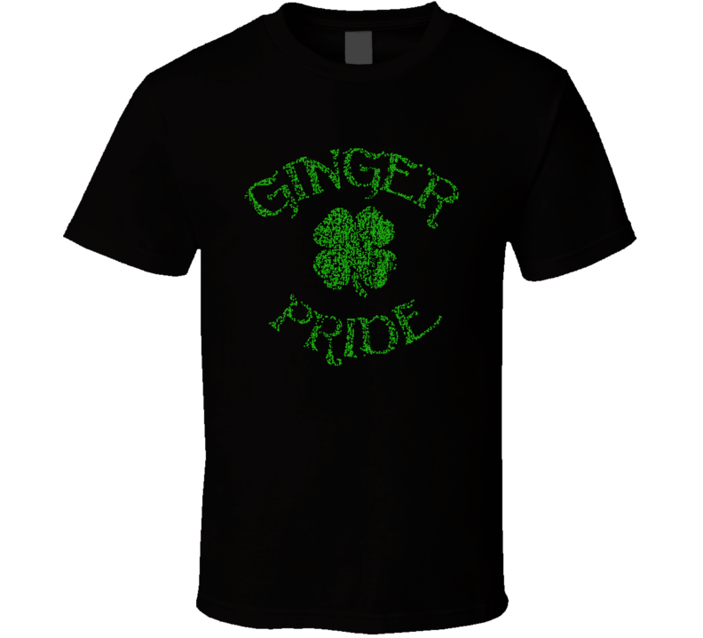 Ginger Pride St Patricks Day Funny Irish Cool Worn Look Ladies T Shirt