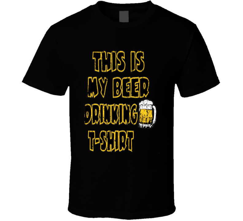 This Is My Drinking St Patricks Day Funny Beer  Worn Look T Shirt