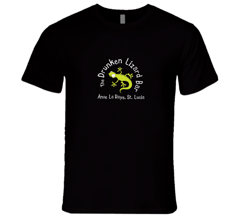 Drunken Lizard Bar Black St. Lucia T Shirt