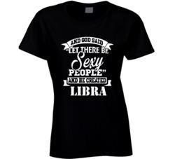 cute sexy libra zodiac women ladies t shirt