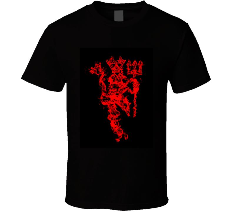 Manchester United Red Devil Soccer Logo T Shirt