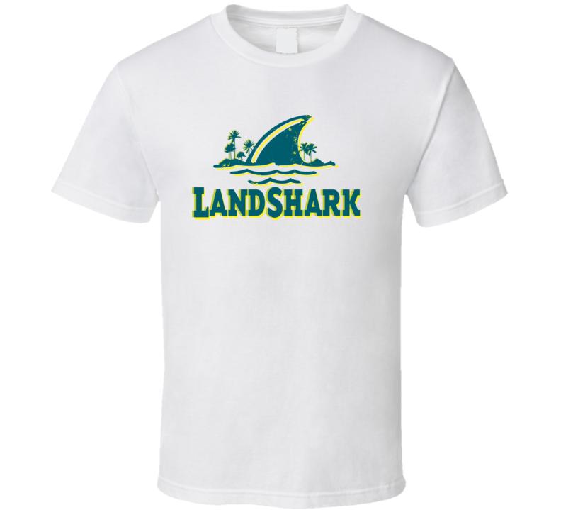 Landshark Lager Distressed Image T Shirt