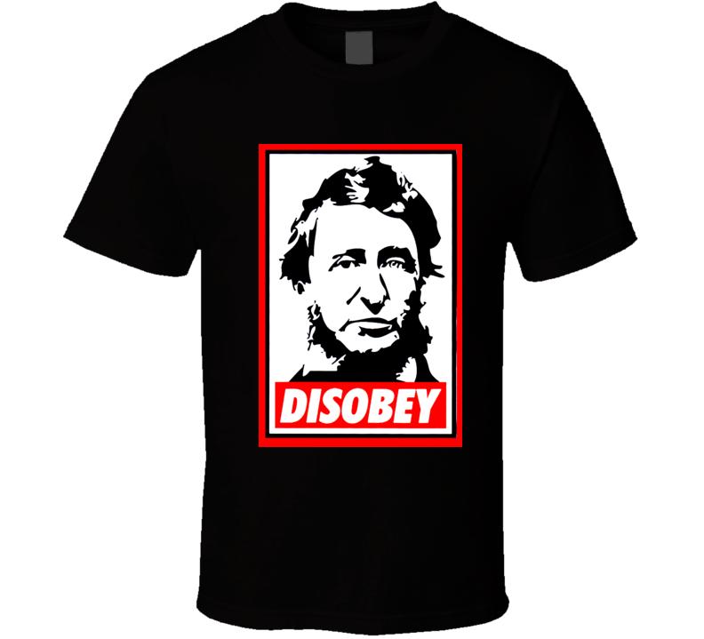 Henry David Thoreau Disobey t-shirt American Civil Disobedience