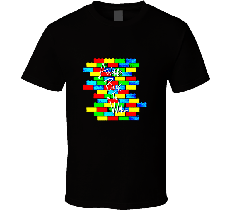 Lego Wall Classic Rock inspired t-shirt Another Brick in the Wall funny retro rock and roll shirts