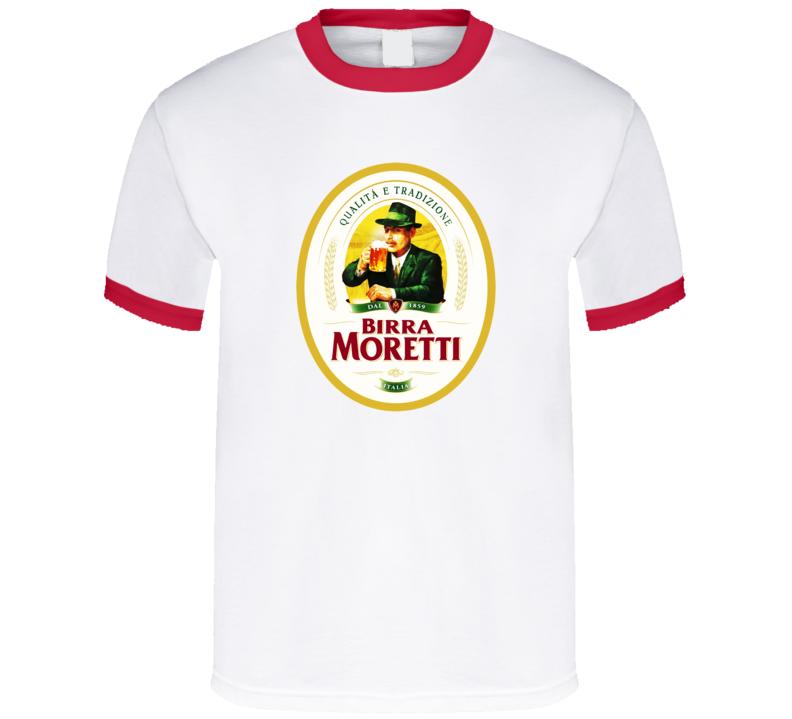 Birra Moretti Biera Italian Beer Italy Red Ring T Shirt