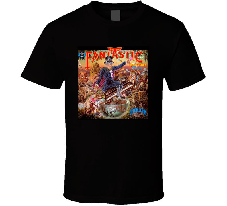 Elton John Captain Fantastic And The Brown Dirt Cowboy Album T Shirt