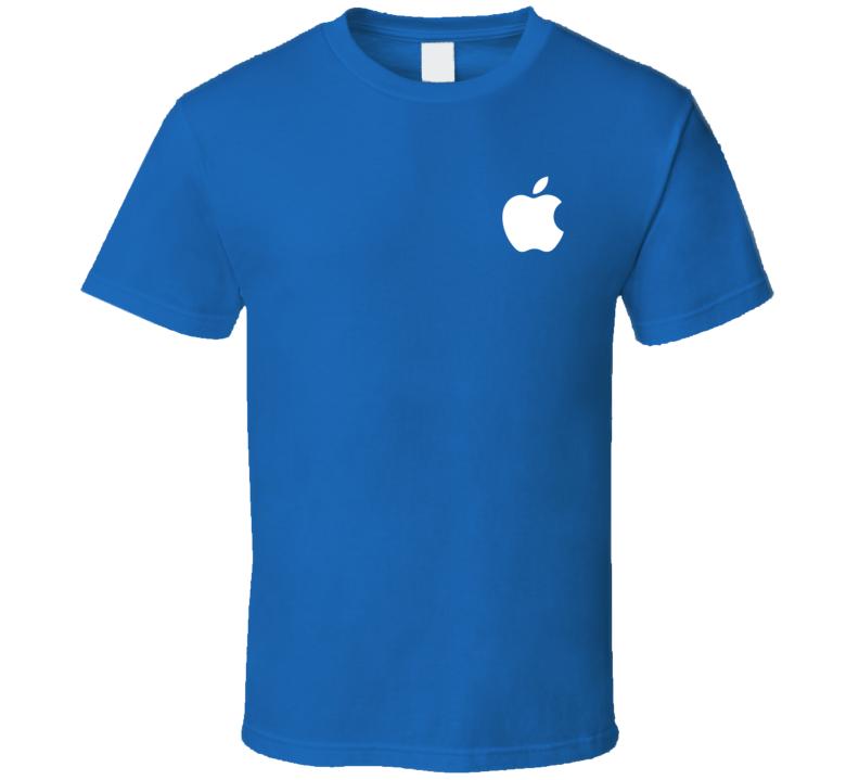 Apple Logo Chest Pocket T Shirt