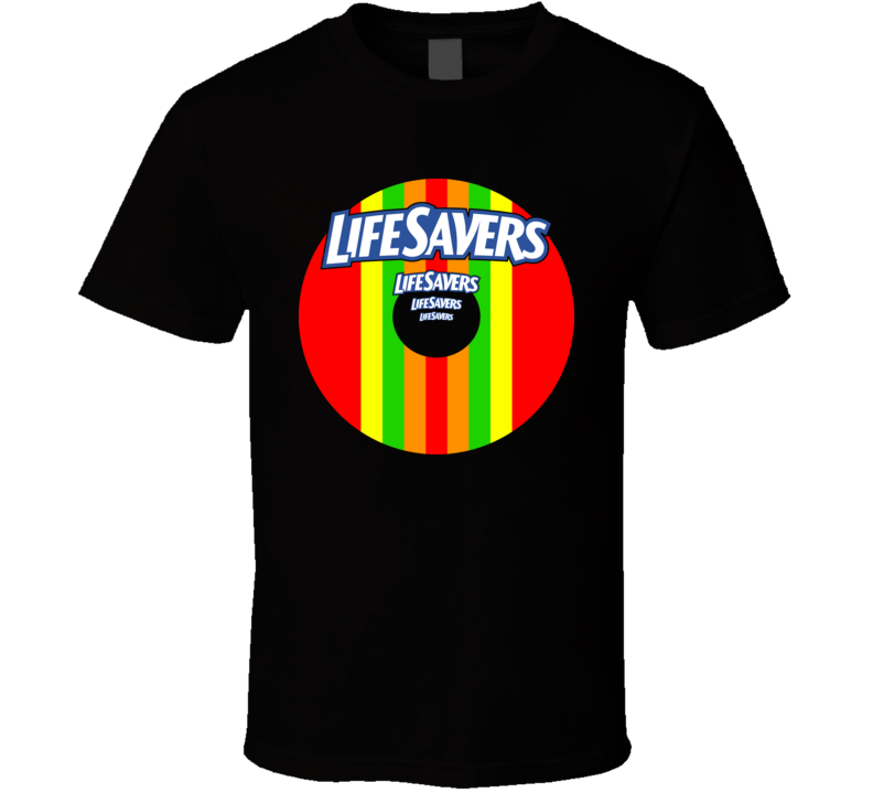 Life Savers Candy Aged Retro Look T Shirt