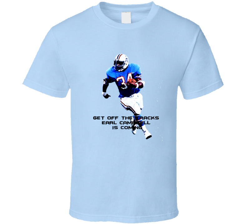 Earl Campbell Houston Oilers retro Foot Ball T Shirt