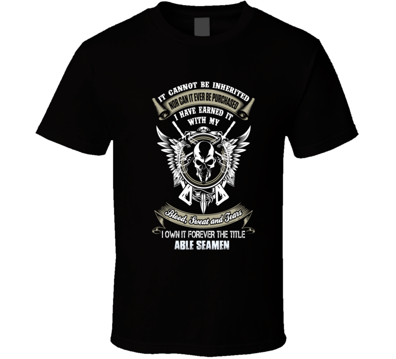 Able Seamen Ninja official job title badass t shirt t-shirt