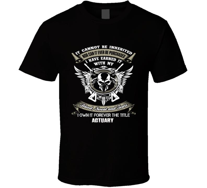 Actuary Ninja official job title badass t shirt t-shirt
