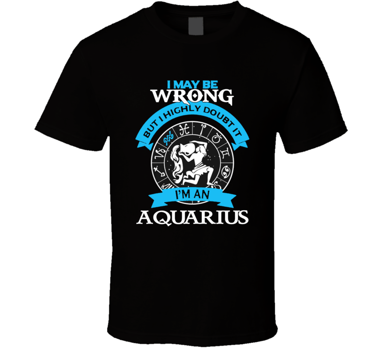Aquarius Zodiac t shirt January February born t-shirt women girl